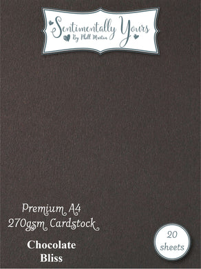 Phill Martin Sentimentally Yours Premium Cardstock - Chocolate Bliss