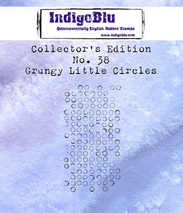 Indigoblu Collector's Edition Red Rubber Stamp - No.38 Grungy Little Circles