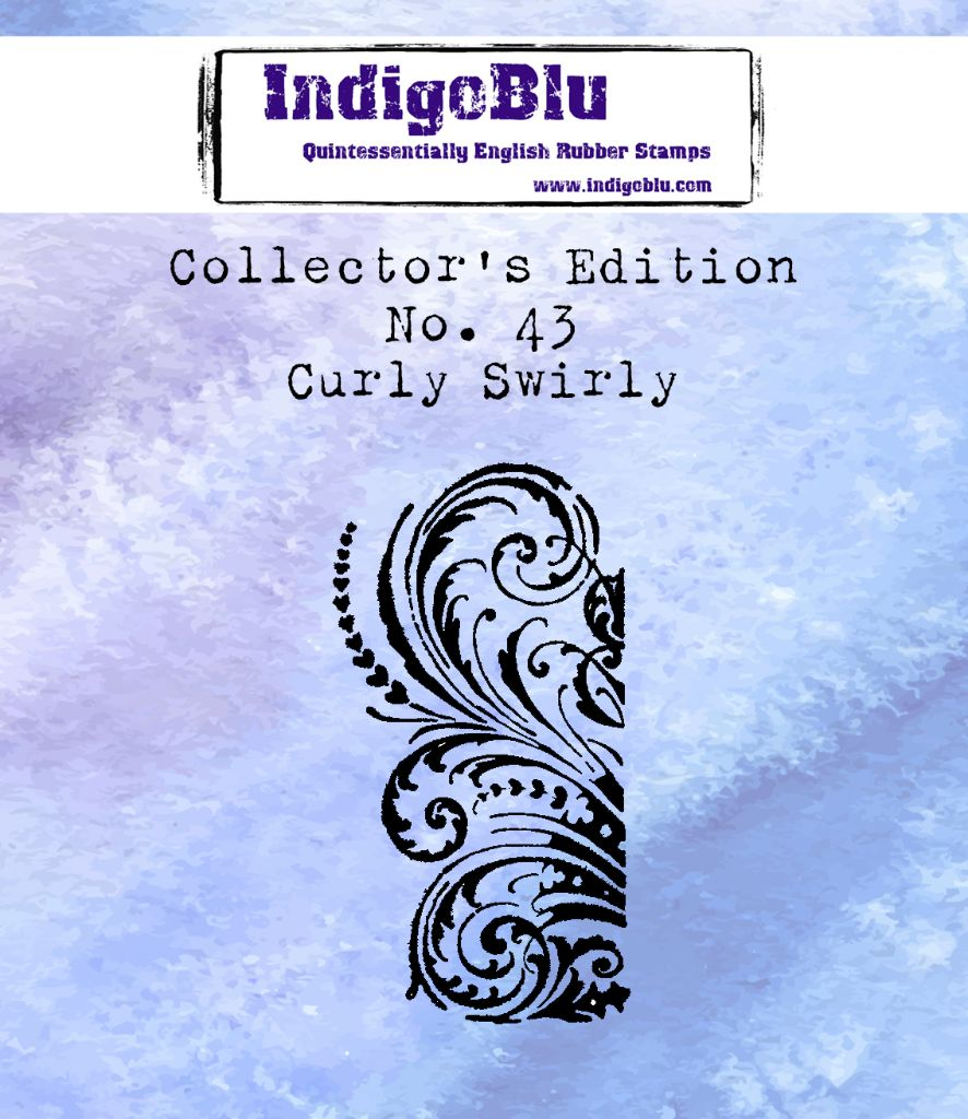 Indigoblu Collector's Edition Red Rubber Stamp - No.43 Curly Swirly
