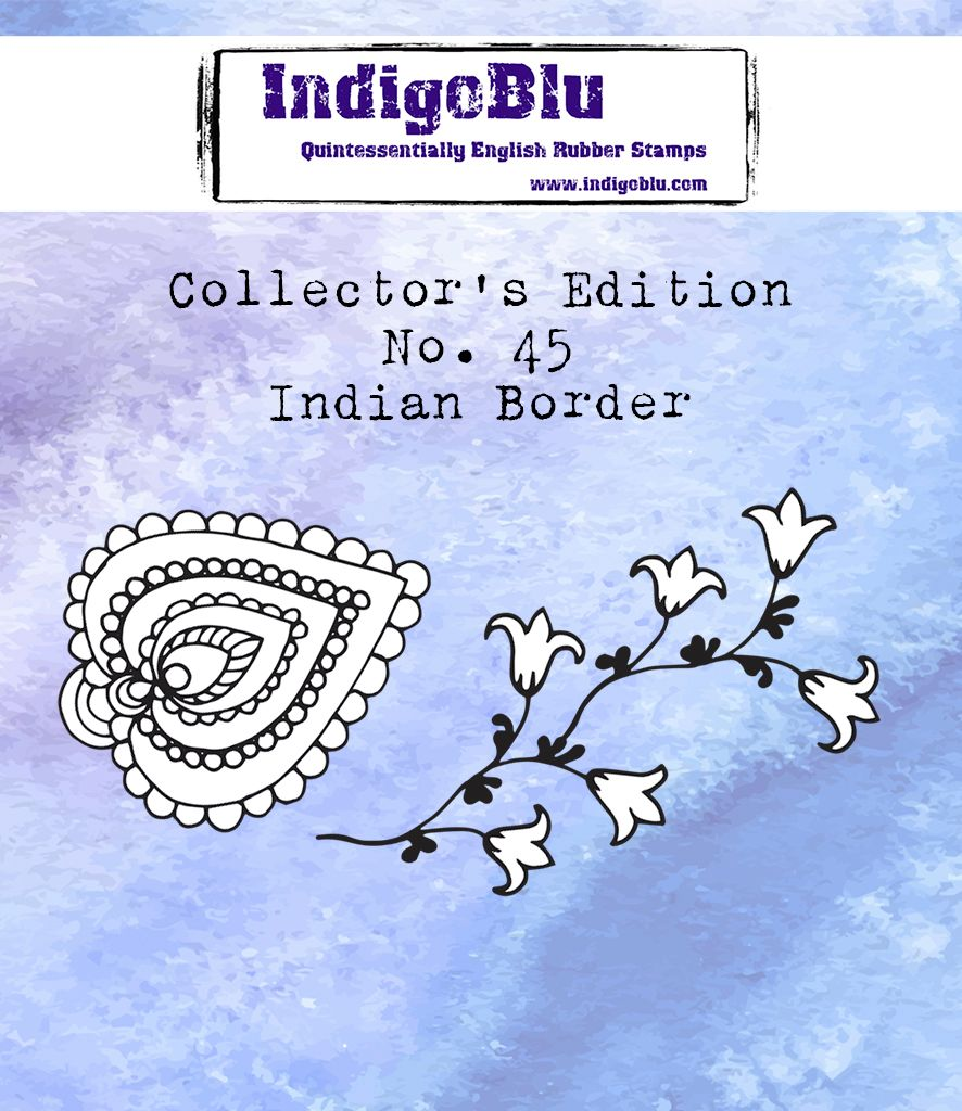 Indigoblu Collector's Edition Red Rubber Stamp - No.45 Indian Border