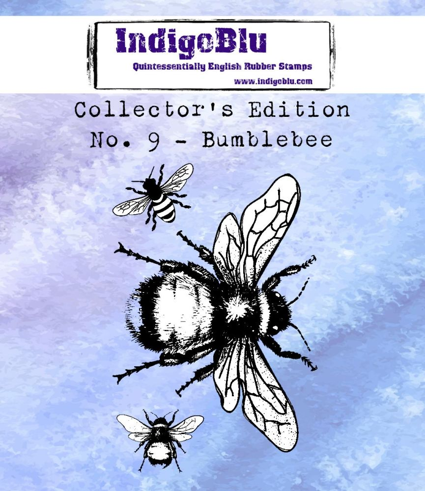 Indigoblu Collector's Edition Red Rubber Stamp - No.9 Bumblebee
