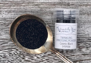 Sentimentally Yours Twinkling Embossing Powder - Cosmic Black
