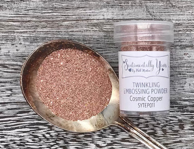 Sentimentally Yours Twinkling Embossing Powder - Cosmic Copper