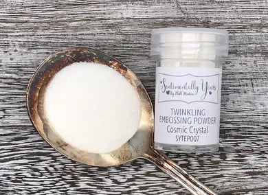 Sentimentally Yours Twinkling Embossing Powder - Cosmic Crystal