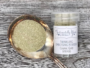 Sentimentally Yours Twinkling Embossing Powder - Cosmic Gold