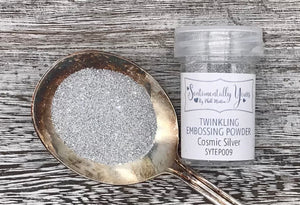 Sentimentally Yours Twinkling Embossing Powder - Cosmic Silver