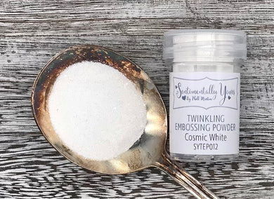 Sentimentally Yours Twinkling Embossing Powder - Cosmic White