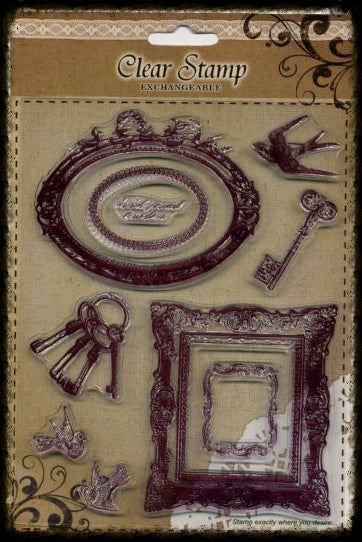 Exchangeable Clear Stamp Set - Frames and Birds