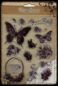 Exchangeable Clear Stamp Set - Elegant Butterfly