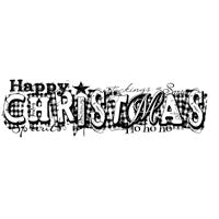 Woodware Clear Magic Single - Graffiti Christmas