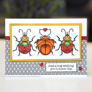 Woodware Clear Magic Single - Cute Bugs