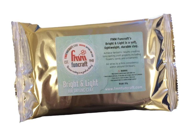 FMM Funcraft Bright & Light Air Dry Clay - 100g