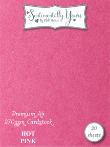 Phill Martin Sentimentally Yours Premium Cardstock - Hot Pink