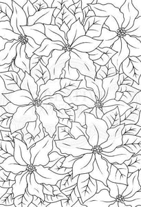 Woodware Clear Magic Single - Poinsettia Lace