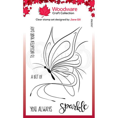 Woodware Clear Magic Single - Butterfly Sketch