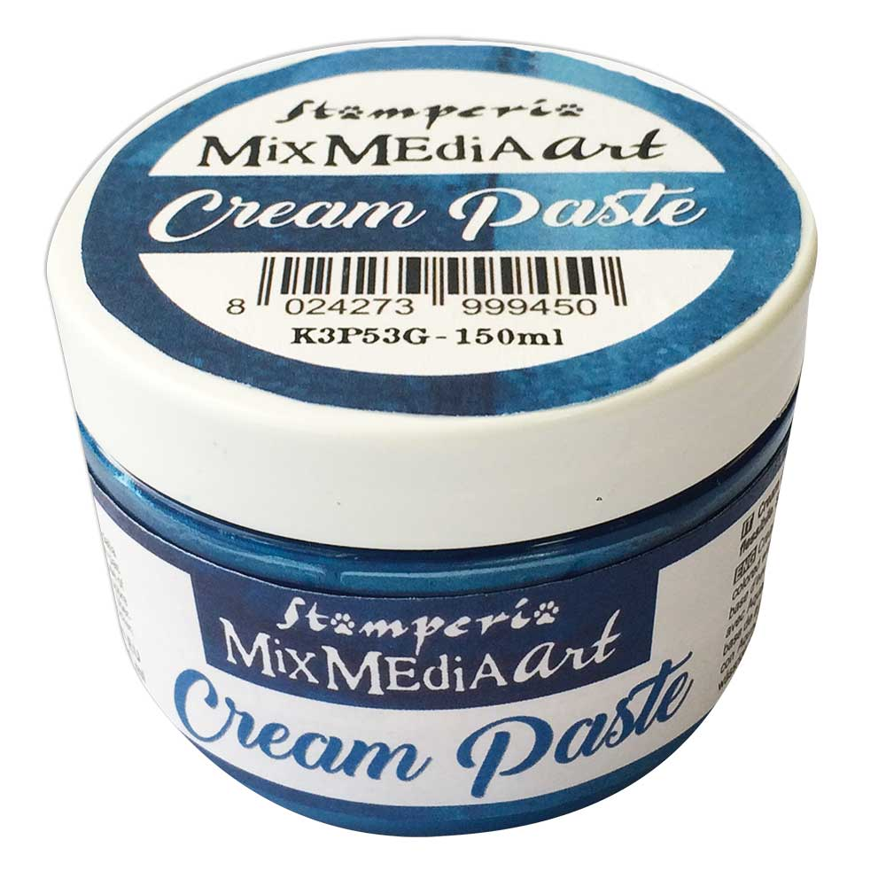 Stamperia Cream Paste : Metallic Blue