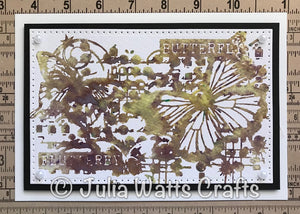Designed by Lisa Horton - Butterfly A6 Rubber Stamp