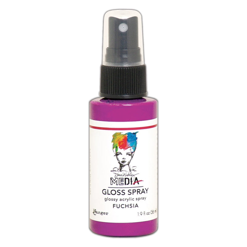 Ranger Dina Wakley Media Gloss Spray - Fuchsia