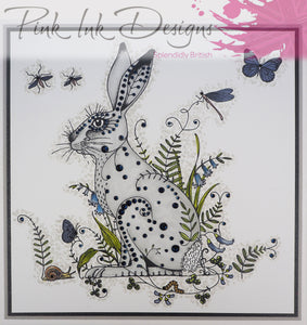 Pink Ink Designs A5 Clear Stamp Set - Fauna Series : Meadow Hare