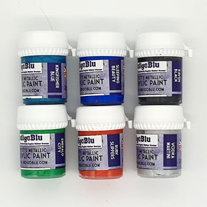 IndigoBlu Artist's Metallic Acrylic Paint 20ml - Set 1