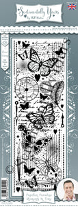 Phill Martin Sentimentally Yours Slim Strips -  Papillon Paradise : Moments in Time
