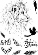 Pink Ink Designs A5 Clear Stamp Set - Fauna Series : Lion