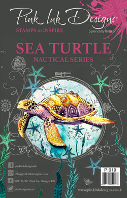 Pink Ink Designs A5 Clear Stamp Set - Nautical Series : Sea Turtle