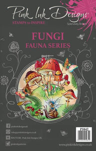 Pink Ink Designs A5 Clear Stamp Set - Fauna Series : Fungi