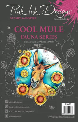 Pink Ink Designs A5 Clear Stamp Set - Fauna Series : Cool Mule