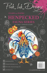 Pink Ink Designs A5 Clear Stamp Set - Fauna Series : Hen Pecked