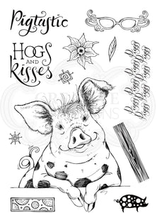 Pink Ink Designs A5 Clear Stamp Set - Fauna Series : Pigstastic