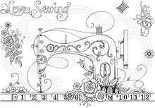 Pink Ink Designs A5 Clear Stamp Set - A Stitch In Time