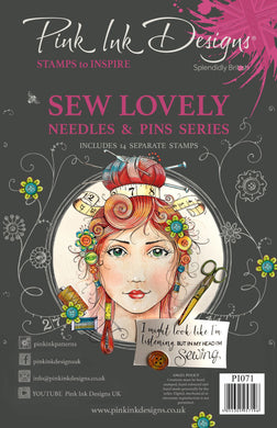 Pink Ink Designs A5 Clear Stamp Set - Sew Lovely