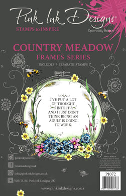 Pink Ink Designs A5 Clear Stamp Set - Frames Collection : Country Meadow