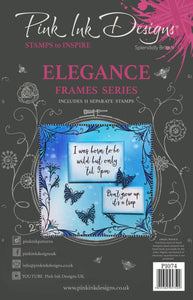 Pink Ink Designs A5 Clear Stamp Set - Frames Collection : Elegance