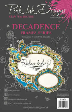 Pink Ink Designs A5 Clear Stamp Set - Frames Collection : Decadence