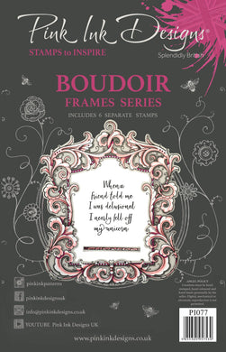 Pink Ink Designs A5 Clear Stamp Set - Frames Collection : Boudoir