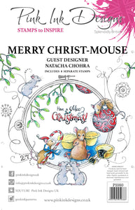 Pink Ink Designs A5 Clear Stamp Set - Merry Christ-Mouse