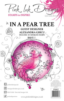 Pink Ink Designs A5 Clear Stamp Set - In a Pear Tree