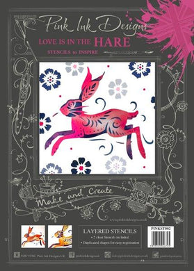 Pink Ink Designs Layered Stencils - Love is in the Hare