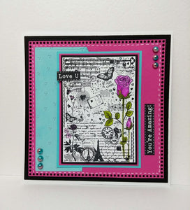 Phill Martin Sentimentally Yours A6 Clear Medley Stamp - Roses Medley
