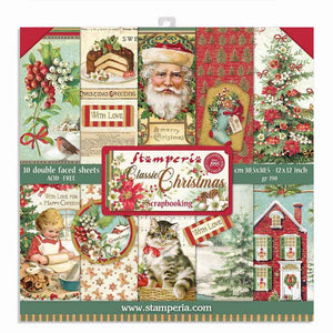 Stamperia 12 x 12 Paper Pad : Classic Christmas