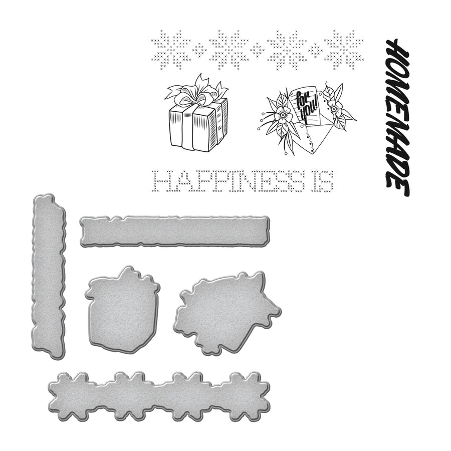 Spellbinders Stamp & Die Set - Happiness
