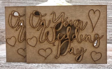 Phill Martin Sentimentally Yours MDF Sentiment Adornment - On Your Wedding Day