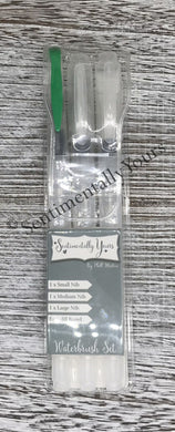 Sentimentally Yours Waterbrushes - Pack of 3 Flat Tip