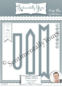 Phill Martin Sentimentally Yours Essentials Collection - Double Debossed Flag Trio