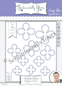 Phill Martin Sentimentally Yours Adornments Collection - Elegance Flower Die Set