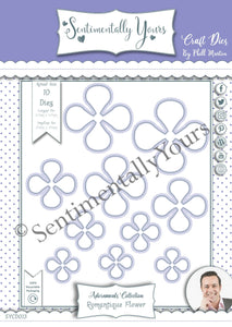 Phill Martin Sentimentally Yours Adornments Collection - Romantique Flower Die Set