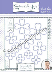 Phill Martin Sentimentally Yours Adornments Collection - Sweetheart Flower Die Set