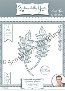 Phill Martin Sentimentally Yours Adornments Collection - Leafy Fronds Die Set